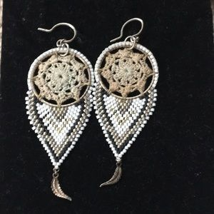 Chan Luu crochet beaded earrings